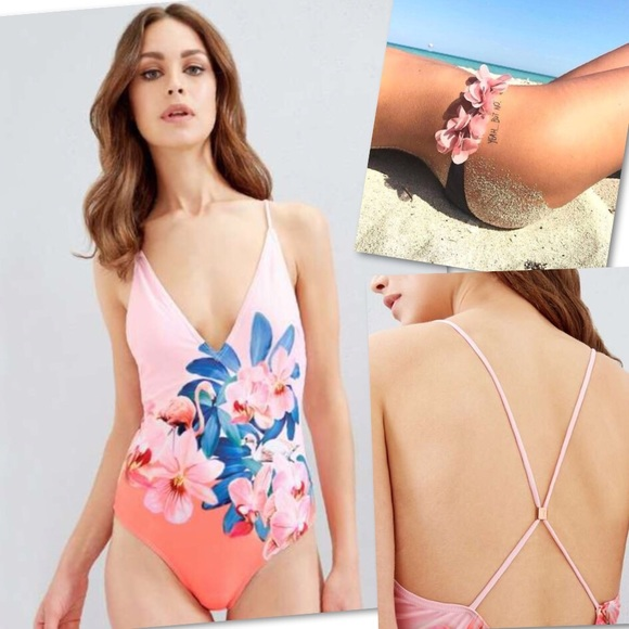 e13b6fb1064 TED BAKER LONDON ORCHID WONDERLAND SWIMSUIT SZ M. M_5ac2eec7077b97f878a03b3c